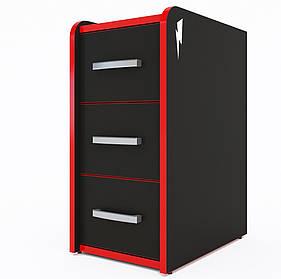 Мобильная тумба T-Box, черный/красный (Zeus ТМ)