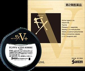 Японские капли для глаз с витамином В6 - Santen FX V Plus