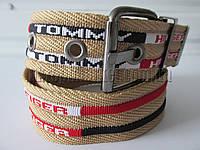 """Ремень мужской джинсовый шпенек (ткань, 45 мм. бежевый) №М17626  """"Remen"""" LM-638"""