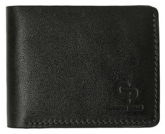Кошелек мужской кожаный черный глянец Onda Grande Pelle (roz-507610)