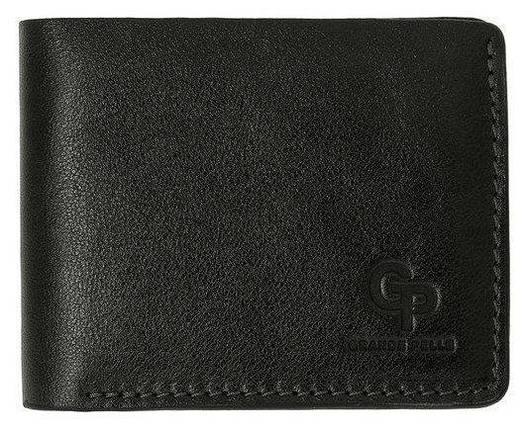 Кошелек мужской кожаный черный глянец Onda Grande Pelle (roz-507610), фото 2