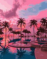 Холст для рисования  Тропический закат (BK-GX31798) 40 х 50 см