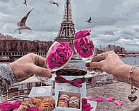Рисунок по цифрам  Романтика Парижа (BK-GX31802) 40 х 50 см