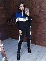 Теплый трикотажный костюм в стиле колор блок -4, фото 1