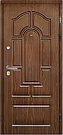 Входная стальная дверь Булат 135 в комплектация Максимум (950 мм, левая) цвет венге серый горизонт