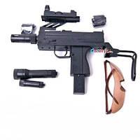 Детский пневматический пистолет автомат с пульками 995 B