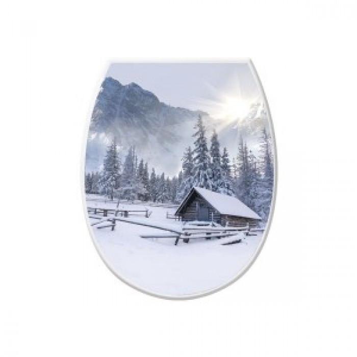 Кришка для унітазу з малюнком Зима Elif plastik 372-11LF