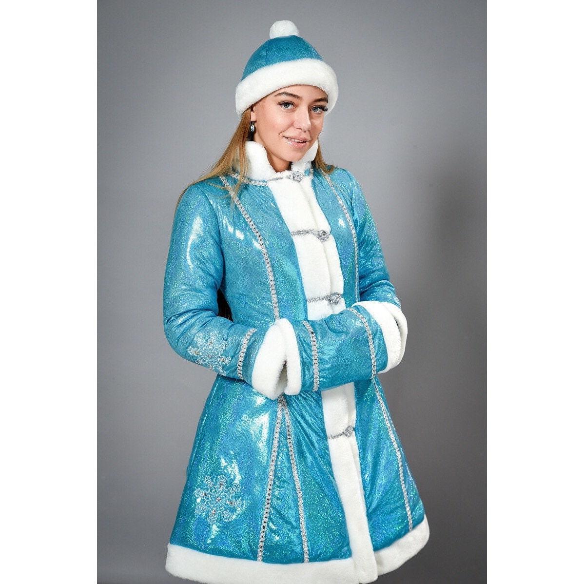 Новогодний костюм Стильная Снегурочка
