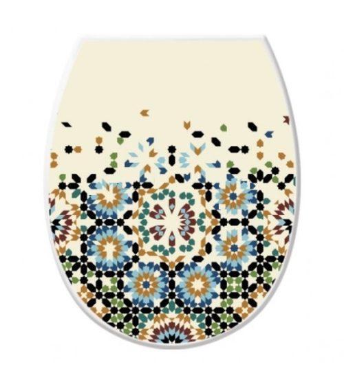 Крышка для унитаза с рисунком Мозаика Elif plastik 372-20LF