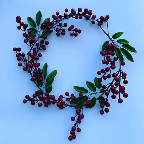 Ветка декоративная с красными ягодами(1 метр, фото 2