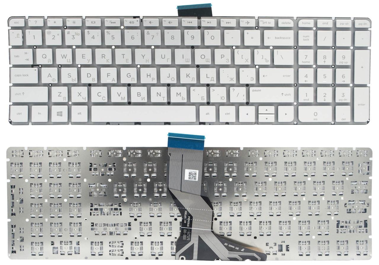 Клавиатура для ноутбука HP Pavilion 15-ab 15-ak 15-ar 15-aw 15-bc 15-bk 17-ab Envy m6-ar 15-bs 15-ra 250 G6 серебристая без рамки Прямой Enter