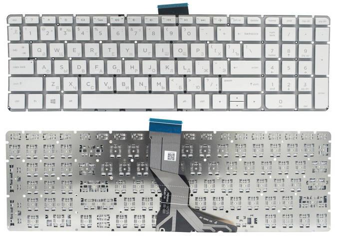 Клавиатура для ноутбука HP Pavilion 15-ab 15-ak 15-ar 15-aw 15-bc 15-bk 17-ab Envy m6-ar 15-bs 15-ra 250 G6 серебристая без рамки Прямой Enter, фото 2