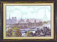 Набор для вышивки крестиком Париж  64x45 см Чарівна Мить