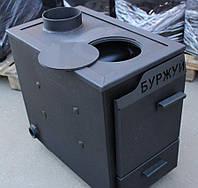Буржуй КП 10 кВт с чугунной плитой (сталь 3 мм)