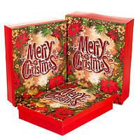 """Набор подарочных коробок """"Merry Christmas"""" 3 шт. большие (39х30 см)"""