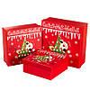 """Набор новогодних подарочных коробок """"Ёлочка"""" 3 шт.  Большие (28х28х10 см) можно поштучно"""