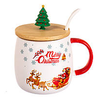 "Кружка заварник с ёлочкой ""Merry Christmas"" 4 вида (300 мл)"