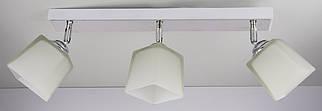 Люстра потолочная на 3 лампочки 51203/3-wh Белый 19х9х50 см.