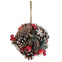 """Новогоднее подвесное украшение для декора """"Лесное богатство"""" 19 см, фото 1"""