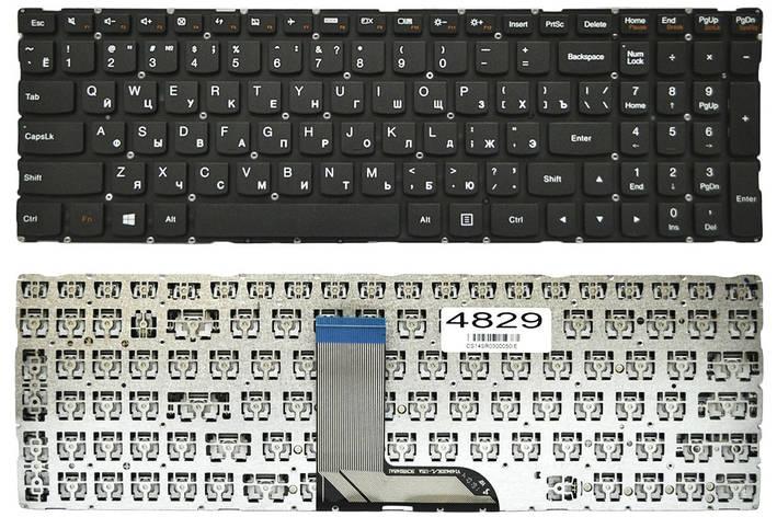 Клавиатура для ноутбука Lenovo IdeaPad 700-15ISK 700-17ISK черная без рамки Прямой Enter (T6ZP1B-RU), фото 2