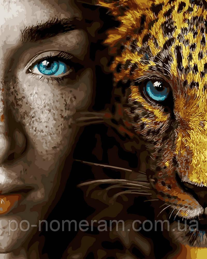 Картина по номерам Девушка и леопард (BRM28049) 40 х 50 см ...
