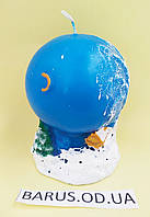 Свеча декоративная  Шар Новый год 2020 размер 10*7,5 см, фото 1