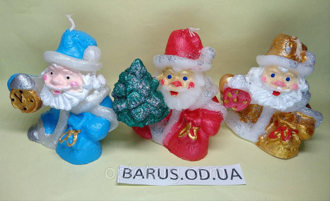 Свеча декоративная Дед Мороз с елкой размер 7,5*8 см