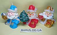 Свеча декоративная Дед Мороз с елкой размер 7,5*8 см, фото 1