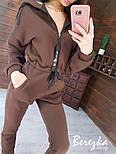 Жіночий утеплений комбінезон на флісі з капюшоном і блискавкою 6605813Q, фото 7