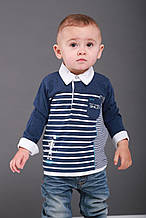 Детское поло для мальчика BRUMS Италия 131BDFL004