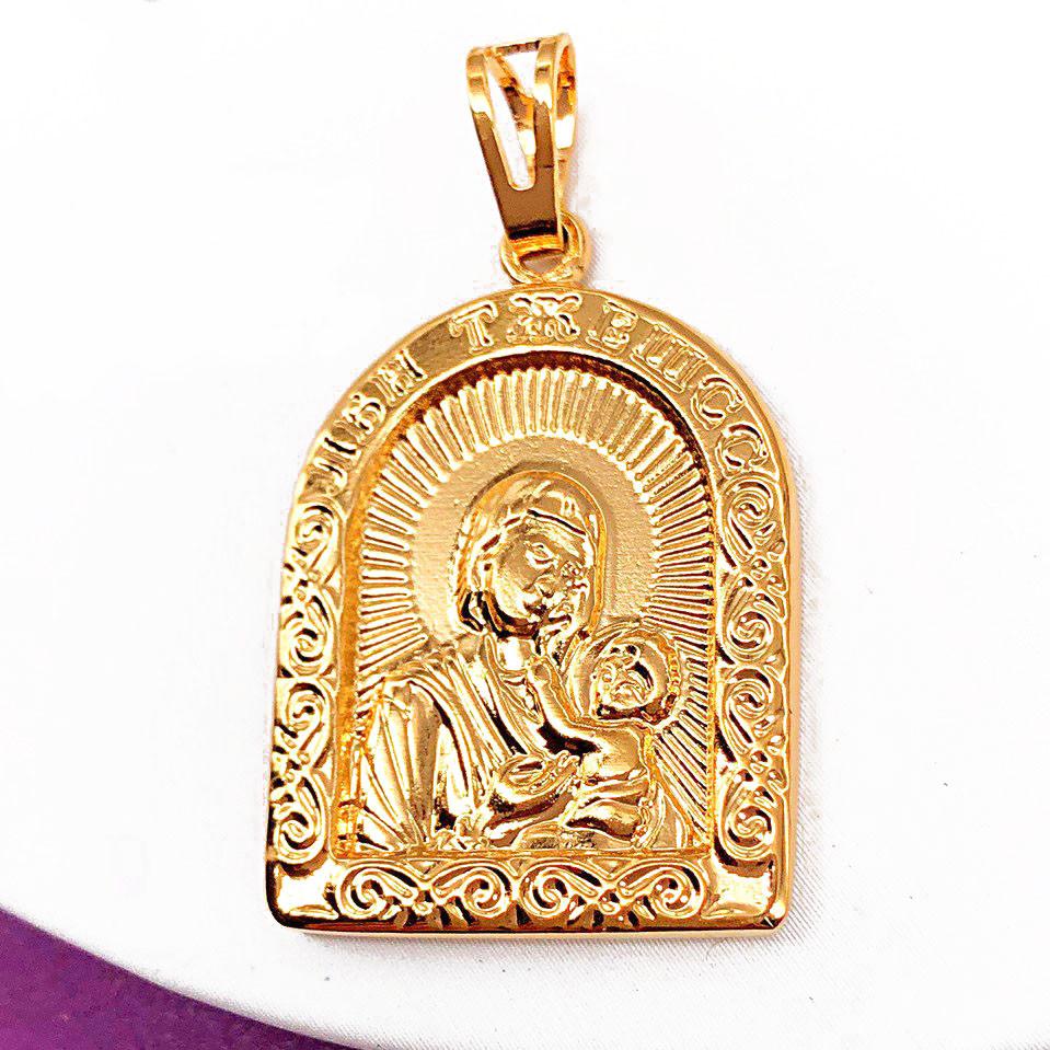 Иконка Xuping Божья матерь с младенцем позолота 18К длина 3.5см л166