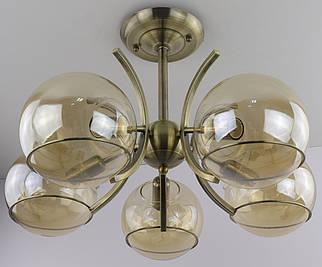 Люстра потолочная на 5 лампочек 4159/5 Бронза 35х50х50 см.