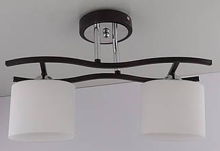 Люстра стельова на 2 лампочки 2441/2 Чорний 27х14х43 див.