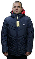 Куртка-пуховик зимняя мужская на силиконе «Ник» (от 48 по 62 | Красная, синяя, черная)