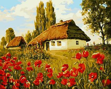 Картина за номерами 40×50 див. Babylon Маків цвіт Художник Геннадій Колісної (VP 496)