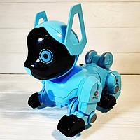 Дитяча музична інтерактивна собака PUPPY Z105, пульт-годинник, поворот на 360
