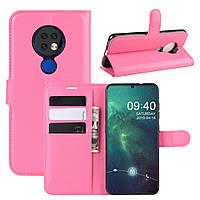 Чехол Luxury для Nokia 7.2 книжка розовый
