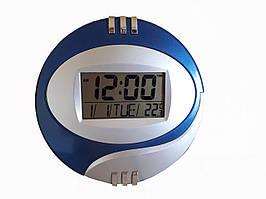 Настенные часы Kadio DS-6870 электронные Серебристые