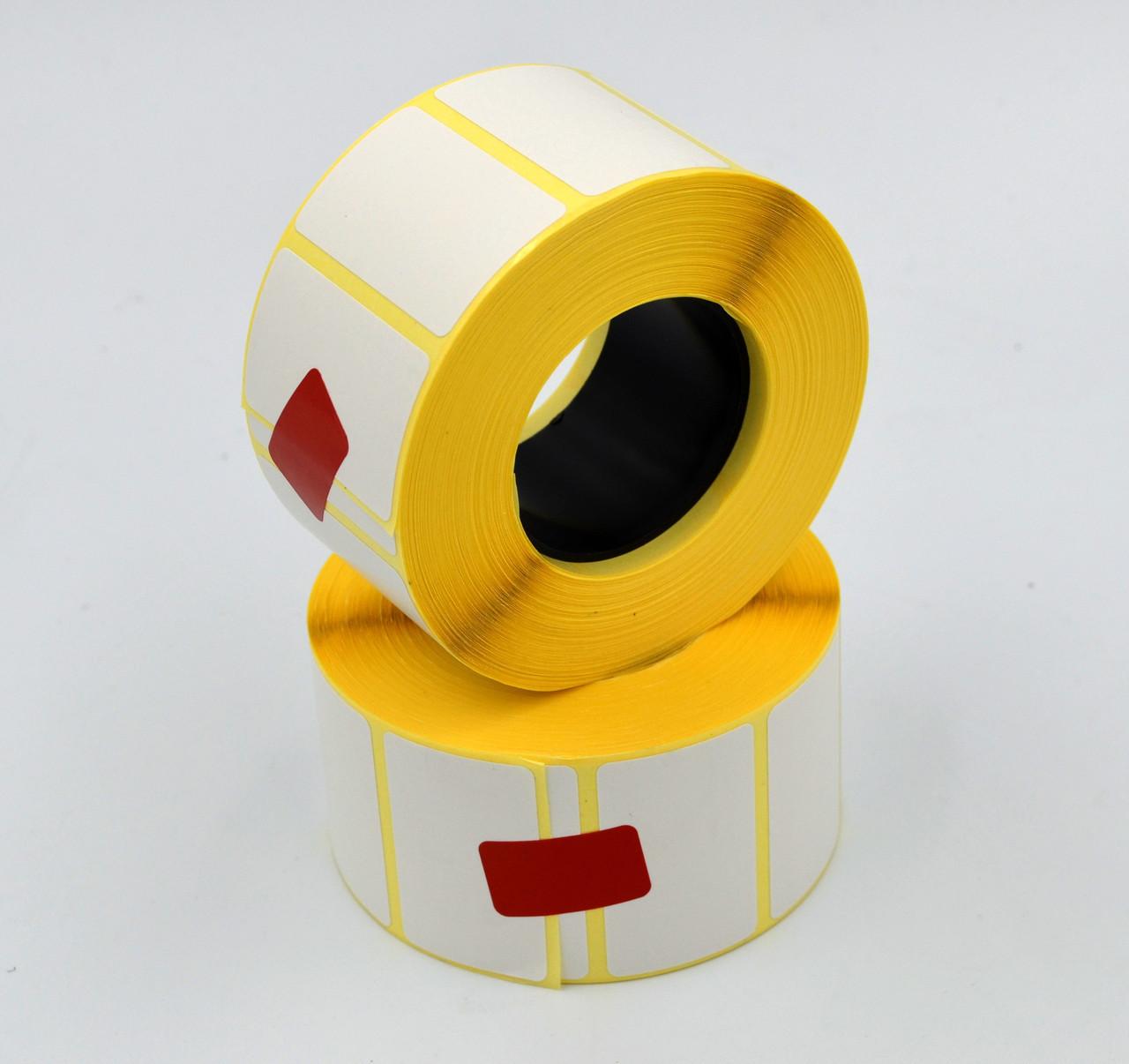 Термоетикетка зносостійка ТермоТОП 40х25мм 1000этикеток прямокутна 10шт. Біла (TT40251000V40)
