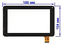 """Сенсор (Тачскрин) для планшета 7"""" Impression ImPad 5214 (186*104 мм, 30pin) (Черный) Оригинал Китай"""