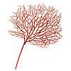 """Декоративная ветвь усыпаная блестками """"Красный коралл"""" (57х45)"""