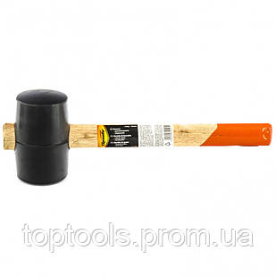 Киянка резиновая, 340 г, черная резина, деревянная рукоятка Sparta