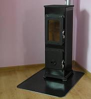 Отопительно варочная  печь камин на дровах  BOZEN  - черная ( каминофен, изразцовая печь)