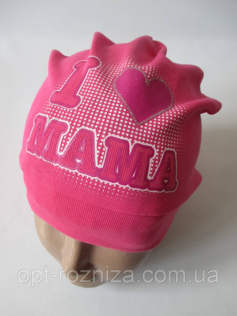 Дівочі шапочки з написом яскравого кольору.