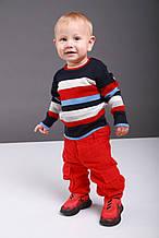 Дитячі штани для хлопчика Krytik Італія 84204 / KN / 00A червоний