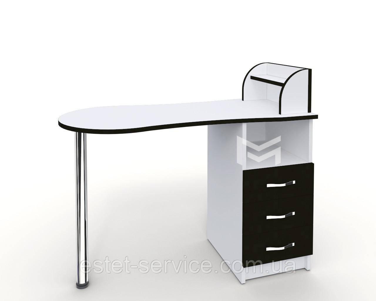 Однотумбовый маникюрный стол M103 Естет №3 с ФАСАДАМИ В ЦВЕТЕ М103
