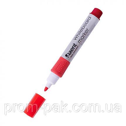 Маркер 2551-01 Whiteboard 2 мм круглий, красный AXENT, фото 2