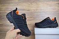 Мужские зимние кроссовки в стиле Merrell Vibram черные с оранжевым, фото 1