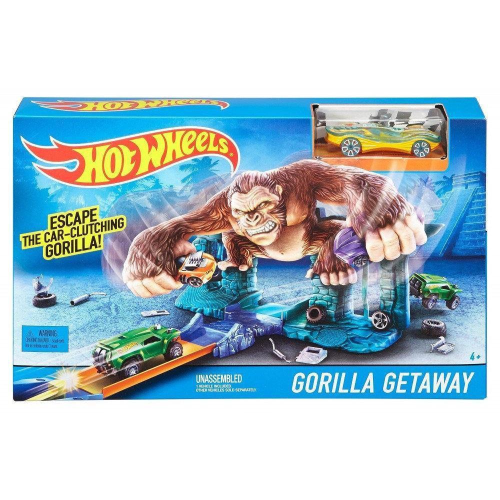 Игровой набор Hot Wheels Побег от гориллы | Трек-запуск Hot Wheels 5785