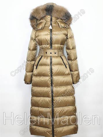 Пуховик пальто парка куртка Moncler с натуральным мехом